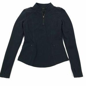 Fabletics Black Mesh Shoulder Zip Pullover XS/S